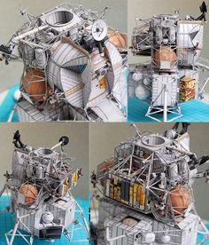 #041 「Apollo13 LM-7 Aquarius」完成: uhu02 ペーパークラフト