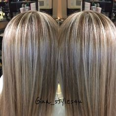 Blonde highlights and chocolate golden lowlights soft shineyhair smooth straight long blonde hair fall color for