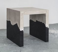 Available for sale from DeLorenzo Gallery, AMMA Studio, D-1 Table (2014), Black sand, hand-dyed cement