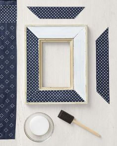 Use any part of a bandana to embellish a picture frame . . . even frames for vintage linens!