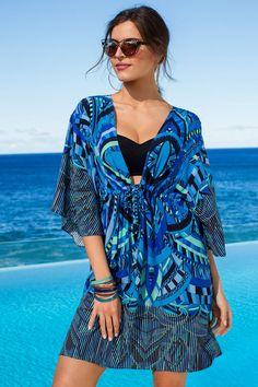 Capture Swimwear Coverup Kaftan Online | Shop EziBuy