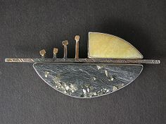 """9419 - Four Vikings on the sea by judy hoch  ~ 1 1/4"""" x 2 3/4"""""""