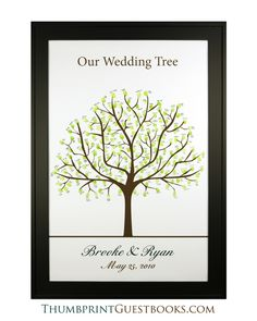 Thumbprint Guestbook Tree # 1  Check it out http://thumbprintguestbooks.com/thumbprint-guestbook-tree-1/