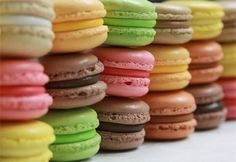 Retail and Wholesale Macarons. Over 21 flavors of macarons available. How To Make Macaroons, French Macaroons, Pastel Macaroons, Making Macarons, Lavender Macarons, Coconut Macaroons, Easy French Macaron Recipe, Cookie Recipes, Dessert Recipes