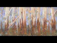 Karri Forest Pastel tutorial - Adding texture to a pastel painting