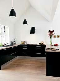 Thinking about black cabinets!