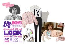 """""""Jeanie Bueller - Ferris Bueller's Day Off"""" by bellecerq ❤ liked on Polyvore featuring NIKE, Steven Alan, Band of Outsiders, Victoria Beckham, River Island, Hollister Co., Crosley, Celebrate Shop, Casio and Maybelline"""