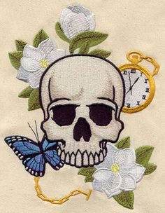 Memento Mori design (UT3615) from UrbanThreads.com,  have this and it stitch out beautifully on a bag
