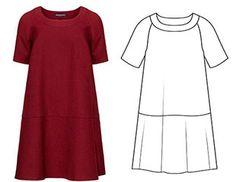 2 в 1: готовая выкройка платья А-силуэта с рукавом реглан