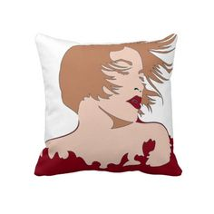 Woman 2 Sided Red / Yellow Pillow