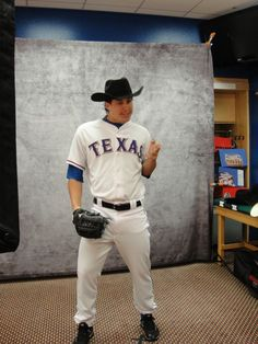 Derek Holland at a photo shoot ~ the man can strike a pose