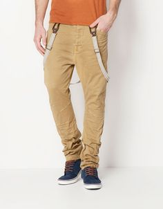 Bershka Turkey - Chino trousers with suspenders