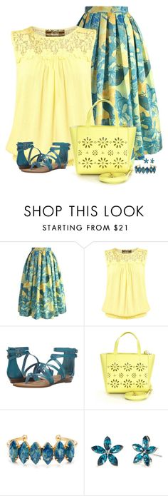 """""""Sunny today"""" by divacrafts ❤ liked on Polyvore featuring Chicwish, Pilot, Blowfish, Kate Spade, Elizabeth Cole, New Directions and Original"""