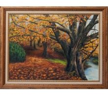 Paisaje Otoñal #arte #oleo #pintura #cuadros #arteizate #enmarcado #paisaje #otoño #arboles #bosque