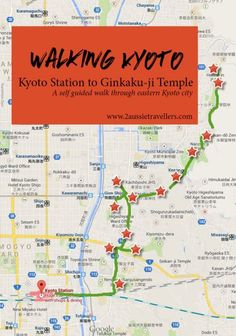 Self guided walk through eastern Kyoto, Japan