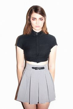 100% Poly PVC Strap closure Hand wash /Dry clean Made in Los Angeles model is wearing S skirt Please check sizing chart before purchasing (no exchanges) *NOTE: