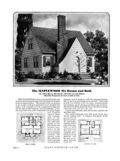 235 Best Sears Kit Homes Images Vintage House Plans