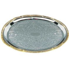 This tray is perfect for casual and formal buffets. From Carlisle Foodservice Products, this chrome tray is great for catering.