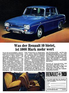 Renault 10 (1967) 1000 Mark mehr wert