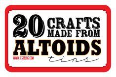 seven thirty three - - - a creative blog: Altoids Tin {Craft Round-Up}