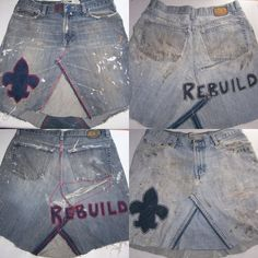 How To Make A Jean Skirt - Recycled Denim DIY