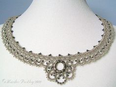 """Beguile"" necklace tatting"