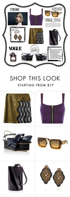 """On trend"" by zabead ❤ liked on Polyvore featuring Marco de Vincenzo, WearAll, Delpozo, Miu Miu, TradeMark, Anna e Alex, John Brevard, MyStyle, edgy and newlook"
