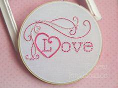 Hand Embroidery  Pattern Valentine Love PDF. $5.00, via Etsy.