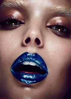 makeupartistsmeet: HG Issue Cosmos Makeup: Paco Garrigues Photographer: Hunter & Gatti Model