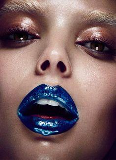 makeupartistsmeet: HG Issue Cosmos Makeup: Paco Garrigues Photographer: Hunter & Gatti Model