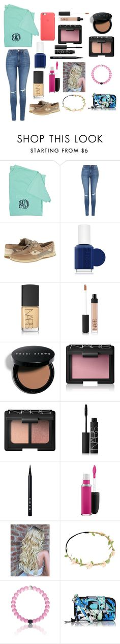 """""""Lovely"""" by amarianamichelle ❤ liked on Polyvore featuring Topshop, Sperry Top-Sider, Essie, NARS Cosmetics, Bobbi Brown Cosmetics, MAC Cosmetics, Vera Bradley and southern"""