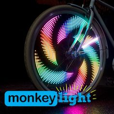 Start a Party! When the sun goes down stay visible – the M232 Monkey Light turns your evening bike ride into an instant party. The MonkeyFX system creates thousands of amazing patterns in your spinnin