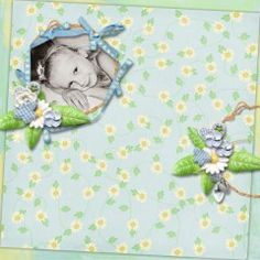 Daisy Chain Kit by #LouCee Creations  The buzz of a bumble bee as he flies round and round, butterflies swirling high above ground.  April brought showers, down came the rain.  Today is the day for a Daisy Chain.  Stems intertwined, white petals so sweet, fluffy gold centres, all the same, yet unique.  Polka dots and checks, a banner blows high, everything is perfect beneath the summer sky. #theStudio #digitalscrapbooking