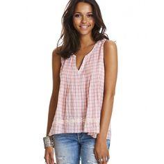 fin-tastic sleeveless blouse LIGHT CORAL