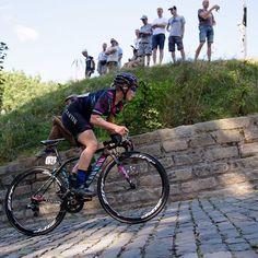 Tiffany Cromwell on the Muur van Geraardsbergen LottoBelgiumTour 2016 by velofocus