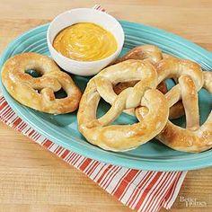 Homemade mall pretzels