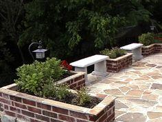 Neat little brick planters