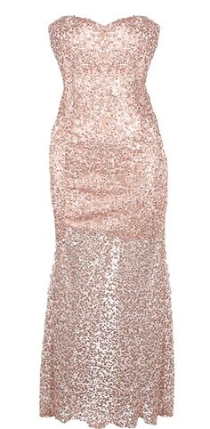 Sparkling Starlet Dress: Features a chic strapless cut with stunning sweetheart neckline, lightly-padded bust for comfortable support, thigh-length tonal liner for no show-through, and top-to-bottom sequin embellishment for an ultra glamorous finish.