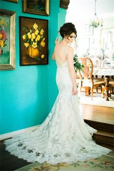 Lace Moonlight Bridal gown found at The Blushing Bride boutique. Credits: @moonlightbridal  @brummettvisuals  @natyissa; Styling by Shana Lepsis.