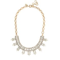 crystal rectangles necklace / j.crew