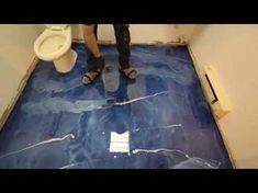 Amazing art of epoxy flooring. Beautiful work by epoxy flooring experts. Video credit: - Epoxy plus Arts Epoxy Floor Diy, Metallic Epoxy Floor, Diy Epoxy, Painted Bathroom Floors, Painted Floors, Bathroom Flooring, Vct Tile, Beach Theme Bathroom, Bathroom Ideas