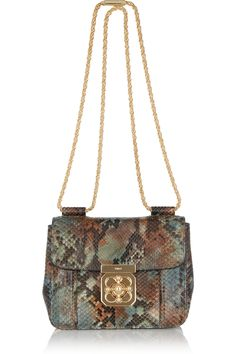 CHLOÉ  Elsie hand-painted python shoulder bag  £1,722.88