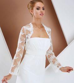 csipke boleró esküvői ruhához Chrysalis Esküvő -www.chrysalis-eskuvo.hu