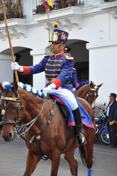 Changing of the guard in Quito Ecuador