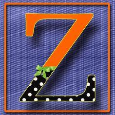Abecedario con letras mayúsculas. Letra Z.