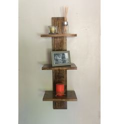 Decorative Wall Shelf with 3 Shelves by 4thAvenueWoodworking