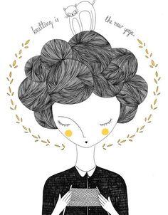 Love how her hair looks like balls of yarn! ☺