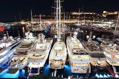 Luxury by night .... The Monaco Yacht Show  #MonacoSuperyachthospitality