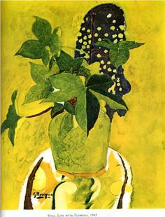 Still life with flowers - Georges Braque