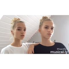 I love Lisa and Lena they are so beautiful and elegant and I think they're good role models because unlike most kids on musical.ly they act there own age and they also don't cake there faces in makeup
